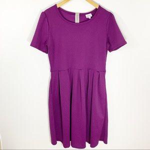 LuLaRoe Purple Textured Amelia Dress, Size XL